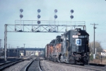 1425-24 SOO freight leaves BN Northtown yard at CTC University