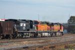 BNSF Transfer heads toward NS Norris Yard