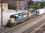 CSX train 521 heads south