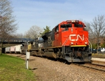 Canadian National #8020 leading eastbound MKCAS 14 merchandise train