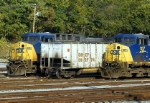 CSX #259 and CSX #107 in CSX yard