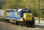 CSX motive power idling