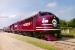 Kiamichi Railroad #SL1 leading passenger excursion train