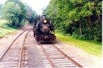 Running around the train