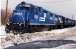 Conrail Units all lined up