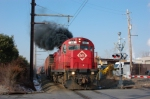 NS H0-2 with ME 18 smokes it up at Snyder Ave.