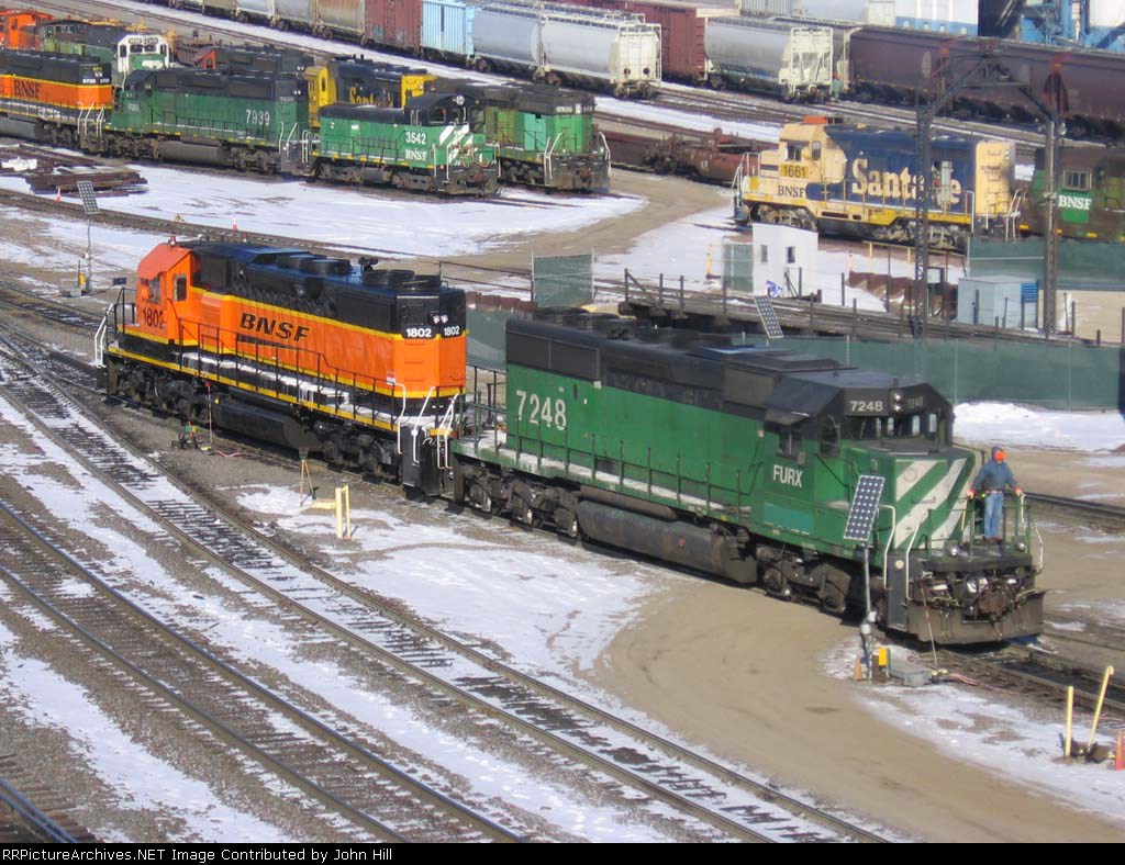 "070205002 BNSF ""Swoosh"" SD38P in Northtown"