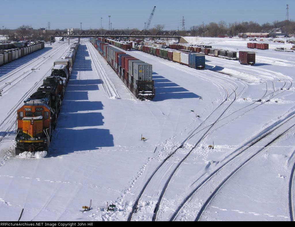 070303002 BNSF Northtown Transfer Yard after winter storm