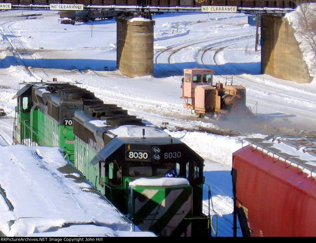 070303010a BNSF Northtown at CTC 35th after winter storm
