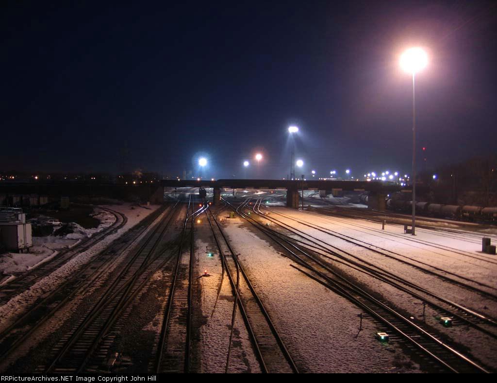 070311001 Night shot at BNSF Northtown at CTC 35th