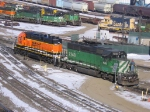 "070205002 BNSF ""Swoosh"" SD38P in Northtown"