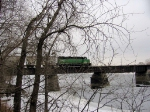 070218001 BNSF Grove Job crosses Mississippi River on ex-NP North Mpls bridge