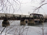 070218004 BNSF Grove Job crosses Mississippi River on ex-NP North Mpls bridge