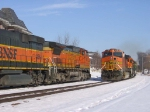 070309004 BNSF freights stage meet in Wayzata after winter storm