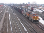 070312007 Northbound All-Rail taconite empties roll through BNSF Northtown at CTC 35th