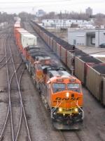 070314003 Westbound (north) intermodal at BNSF Northtown CTC University