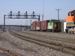 070323010 BNSF local freight meets All-Rail taconite empties at Northtown CTC University