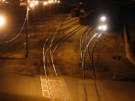 070326040 Night view of UP freight leaving Hoffman Avenue (Belt) yard