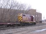 070403027 TC&W pre-RailRunner intermodal train waits for traffic at BNSF CTC Van Buren