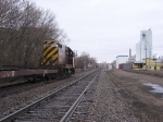070403029 TC&W pre-RailRunner intermodal train waits for traffic at BNSF CTC Van Buren