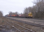 070403031 TC&W pre-RailRunner intermodal train waits for traffic at BNSF CTC Van Buren