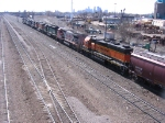 "07040703 Outbound BNSF freight goes through the ""603"" at Northtown CTC 35th"