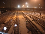 07041101 Northtown Yard CTC 35th at night during unseasonable mid-April snow storm.