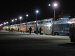 """07041315 On-time Amtrak #7 at Midway depot with Rail Ventures private car """"Bella Vista"""" 800212"""
