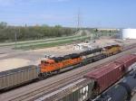 07042905 Alma/DAPX coal empties roll past BNSF Northtown near CTC 44th