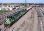 07042913 BNSF yard engines pull a cut out of the Northtown bowl near CTC 35th