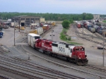 07051203 SOO-powered CP freight at Pigs Eye Yard