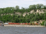 07051310 Westbound Amtrak private charter with all-MILW Hiawatha decor at CTC St. Croix Junction