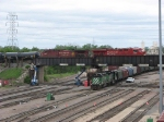 07051505 Eastbound CP freight rolls above BNSF Northtown Yard CTC 35th