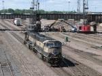 07051605 BNSF light engine movement through bridge construction zone at Northtown CTC 35th