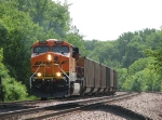 07052809 Westbound WEPX coal empties enter BNSF siding