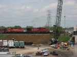 07052915 Eastbound CP freight crosses SOO bridge over BNSF Northtown CTC 35th