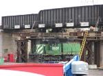 070606015 Yard engine passes CP/SOO bridge construction at BNSF Northtown Yard near CTC 35th