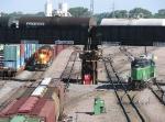 070608023 Southbound Herzog rock train at BNSF Northtown CTC 35th