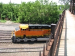 070616004 Eastbound BNSF freight passes under St. Anthony Pkwy at Northtown CTC 35th