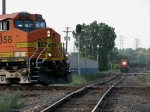 070617001 Eastbound BNSF freight crosses Minnesota Commercial at Park Jct.