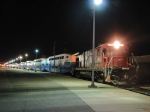 """070629016 """"Sounder"""" commuter cars in transit on back of westbound Amtrak #7"""