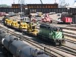 070709044 BNSF Northtown Yard action
