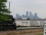 """070723004 NS power dominates at UP's East Minneapolis """"Triple Crown"""" terminal"""