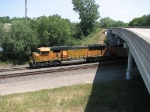 070731030 Northbound BNSF (DEEX) coal loads rolls through CTC Coon Creek