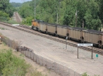 070731032 Northbound BNSF (DEEX) coal loads rolls through CTC Coon Creek