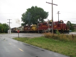 070818002 Leased ILSX 1389 leads westbound TC&W freight at Blake Road