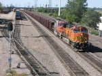 "070922038 Eastbound BNSF ""KEEMAD"" taconite ore train on Midway Sub."