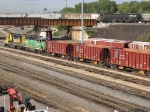"070926019 BNSF ballast train arrives at Northtown ""T"" Yard"