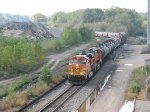 071007005 Eastbound BNSF freight passes Lyndale Junction, site of former GN Lyndale Yard