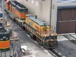071022004 BNSF 3635 at Northtown diesel shop.